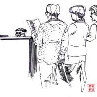 Tekening van Kennemerduin Singers door Anne Rose 2017
